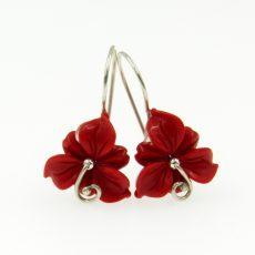 Korall virág fülbevaló