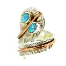 Opál köves kígyó forma gyűrű