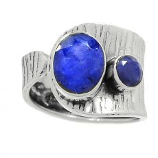 Egyedi zafír gyűrű