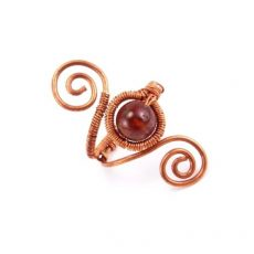 Hesszonit gránát egyedi gyűrű