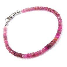 Rózsaszín turmalin rubellit karkötő