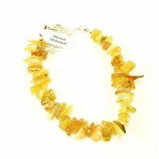 Méz opál splitter szemcse karkötő