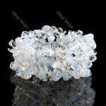 Opalit  splitter szemcse -széles gumis karkötő