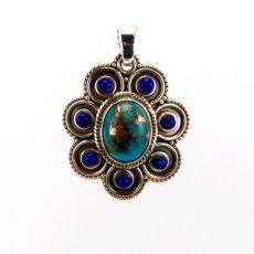 Természetes türkiz medál lápisz lazulival