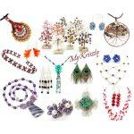 Moldavit angyal medál herkimeri gyémántokkal