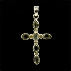 Herkimeri gyémánt kereszt  medál