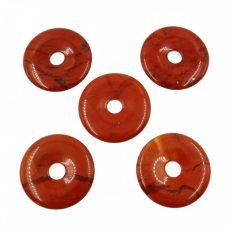 Donut (fánk)  medál - Piros jáspis