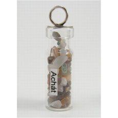 Ezoterikus üveg medál - Achát