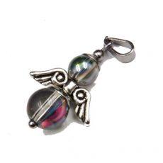 Szivárvány aurakvarc angyal medál -kicsi