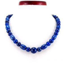 Lápisz lazuli  nyaklánc -hordó