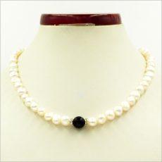 Ónix köves tenyésztett gyöngy nyaklánc