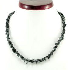 Obszidián  splitter szemcse nyaklánc