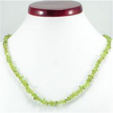 Peridot (olivin) splitter szemcse nyaklánc