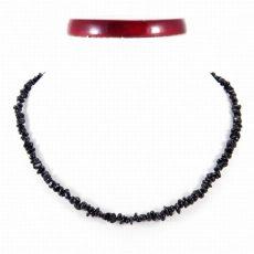 Fekete turmalin (sörl)  splitter szemcse nyaklánc