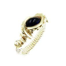 Iolit drótékszer gyűrű