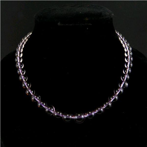Image of Ametiszt növekvő gyöngyös nyaklánc